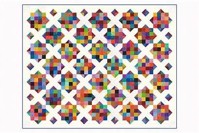 Quilt Patch Pattern Scrappy Sixteen Scrap Diamonds