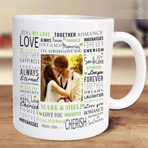 The perfect way to show your love of coffee! A unique gift idea for a tea or coffee lover, our personalised mugs can be printed with a name ...