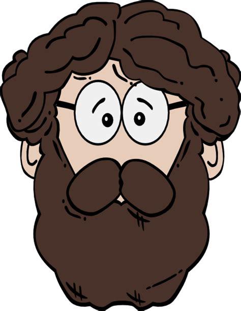 Beard Clip With Beard Clip At Clker Vector Clip