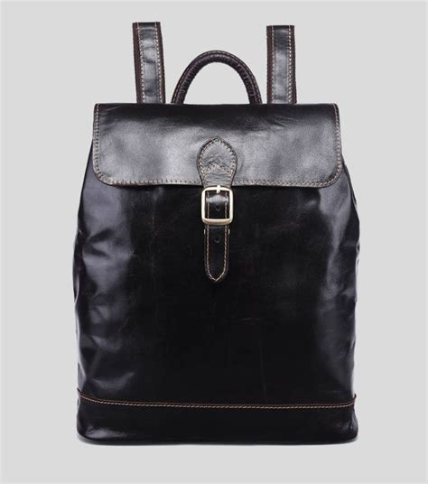 leather backpack purse coffee black leather bag  women bagswish