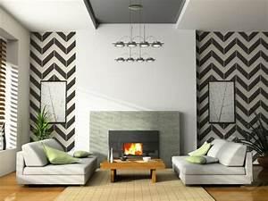 Papier Peint Moderne Salon : le papier peint noir et blanc est toujours un singe d 39 l gance ~ Melissatoandfro.com Idées de Décoration