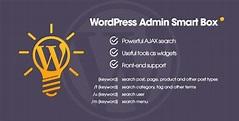 WP Admin Smart Box v1.1 - Powerful AJAX search & tools for WordPress backend - UnlockPress.com
