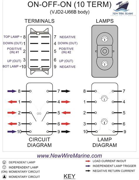 Off Backlit Rocker Switch Carling Vjd New Wire