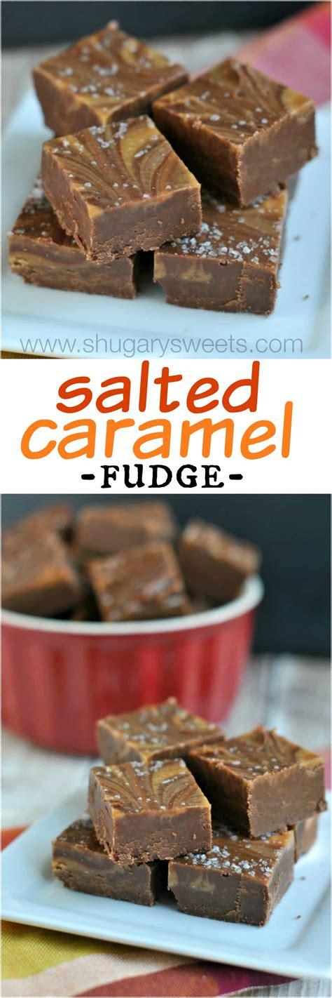 Salted Caramel Mocha Fudge Shugary Sweets