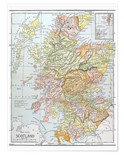 map scotland poster posterlounge