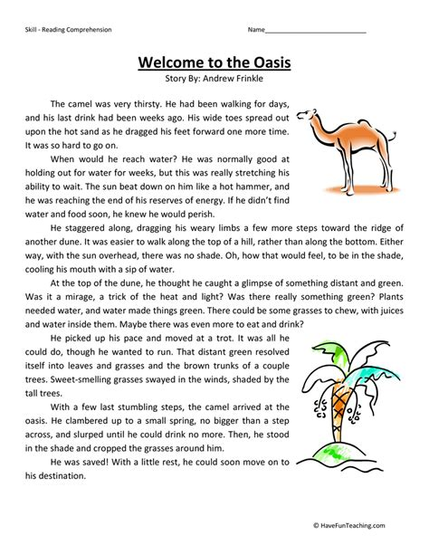 fourth grade reading comprehension worksheets page 4 of
