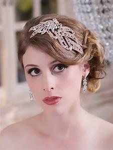 Crystal Rose Gold Headpiece Crystal Wedding Head Piece