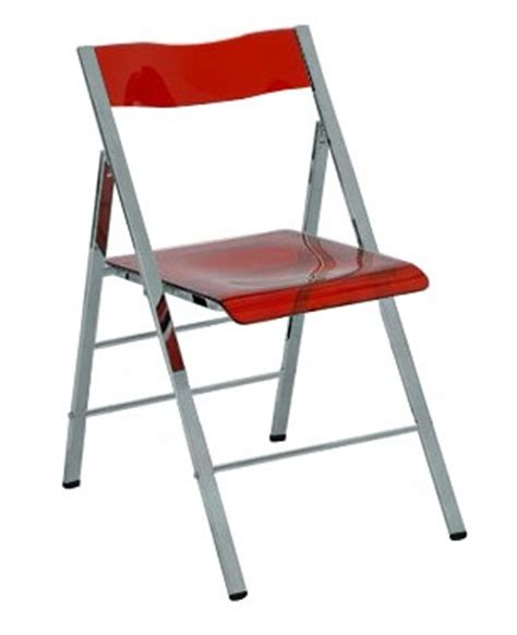 clarity acrylic folding chairs in clear orange