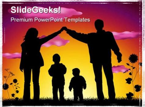 sweet family people powerpoint template