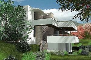 maison terrain en pente maison sur un terrain en pente With plan maison en u ouvert 0 maison en u james bansac architectes