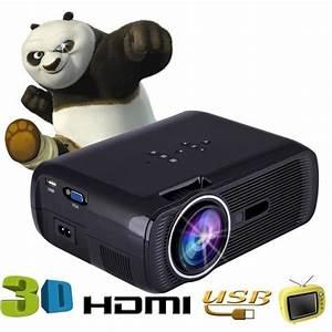 Projecteur Home Cinema : 1000 lumens 800 480 r solution hd portable projecteur led 3d home cinema theater pc support ~ Preciouscoupons.com Idées de Décoration