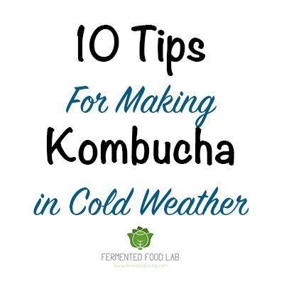 tips  making kombucha  cold weather fermented
