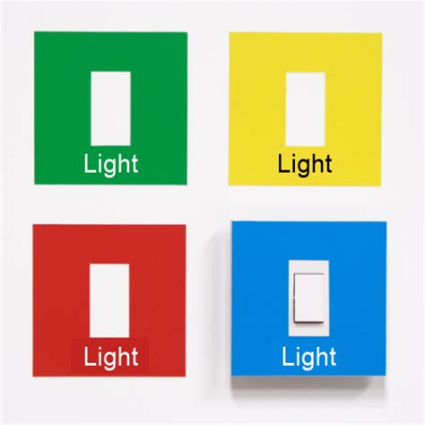 coloured light switch covers recogneyes care home and