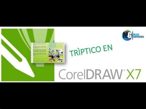 crear triptico en corel draw  youtube