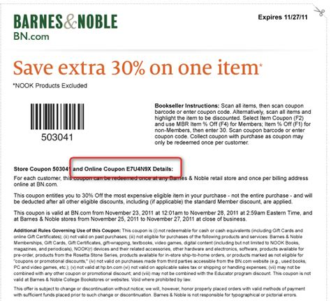barnes and noble codes free printable coupons barnes and noble coupons