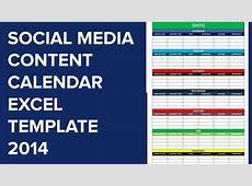 social media editorial calendar excel template calendar