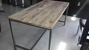 Table A Manger Industrielle : table a manger industrielle pas cher ~ Teatrodelosmanantiales.com Idées de Décoration