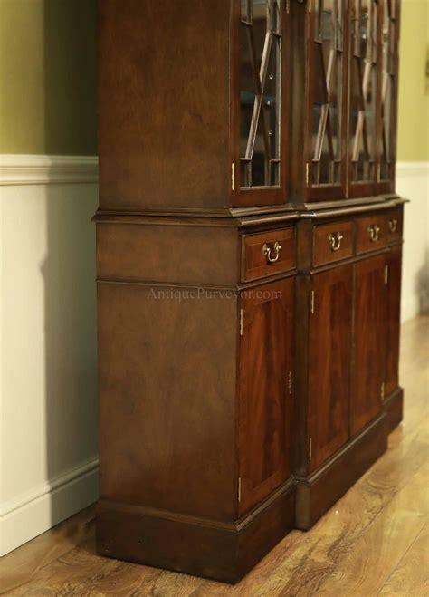 door china cabinet high  mahogany china cabinet