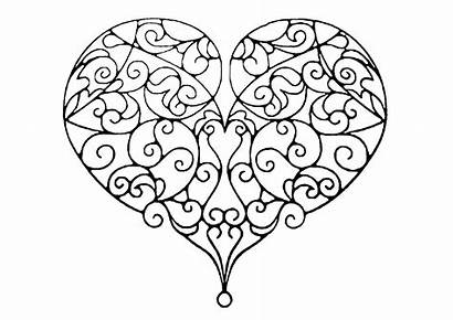 Heart Lines Coloring Stress Pretty Anti Intertwined