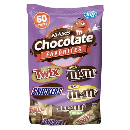 Mars Chocolate Favorites Fun Size Candy Bars Variety Mix