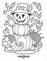 Thanksgiving Coloring Sheets Halloween Fall Harvest Kleurplaten Pumpkin Adults Printables Pilgrim Printable Zum Happy Kleurplaat Scarecrow Turkey Voor Crayola Binden sketch template