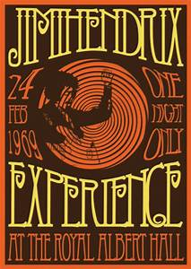 Jimi Hendrix Concert Posters | Canned Treats