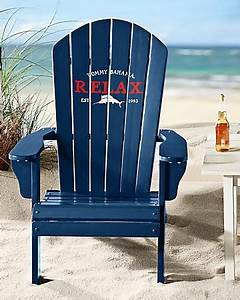Tommy Bahama Deluxe Navy Adirondack Chair Quelques