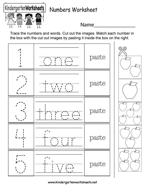 kindergarten numbers to worksheets for all kindergarten