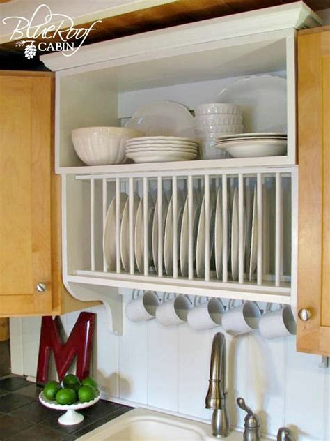 update builder grade kitchen cabinets   plate rack cabinet remodelaholic kitchen