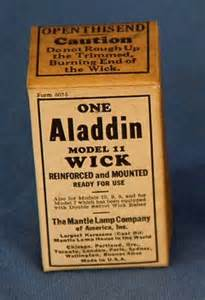 vintage aladdin model 11 wick kerosene in original box