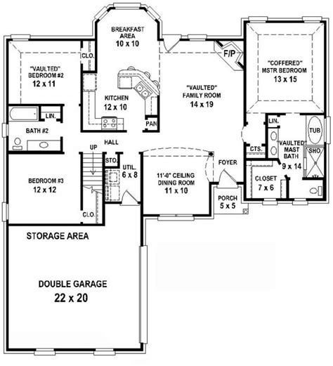 house plans with 3 bedrooms 2 baths new home