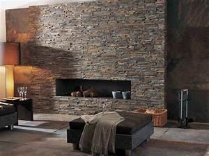 Steinwand Im Wohnzimmer Rustikal Modern BRICK NEPAL Lantic
