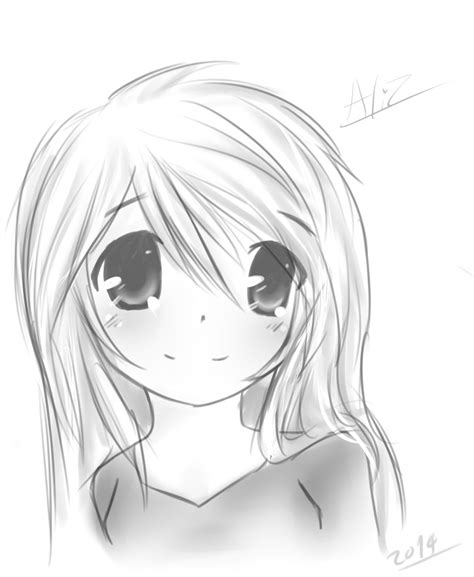 Drawing Anime Simple Anime Drawing Anime Simple By Aliztd On Deviantart