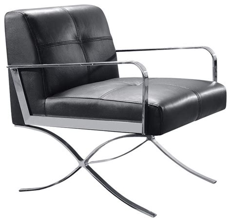 divani casa delano modern black leather lounge chair modern indoor chaise lounge chairs by