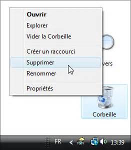 comment remettre l icone corbeille sur le bureau afficher ou masquer la corbeille sur le bureau sur