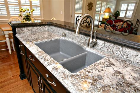 kitchen counter with sink pergaminho granite with granite composite sink agdesigns 4302