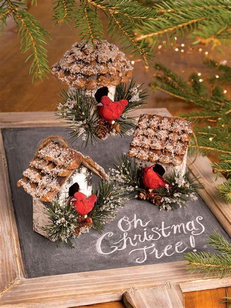 cardinal birdhouse ornaments set   gardeners supply