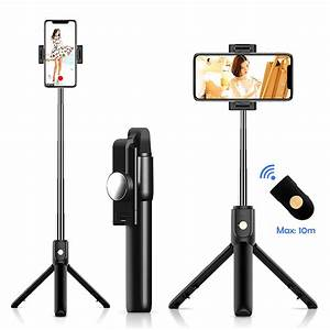 Bluetooth4.0 Mobile Phone Selfie Stick Tripod Remote Monopod Phone Stand for Mobile Phone ...