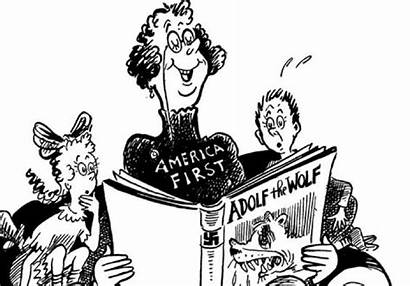 Seuss Dr Cartoons Ww2 Political Cartoon Wwii