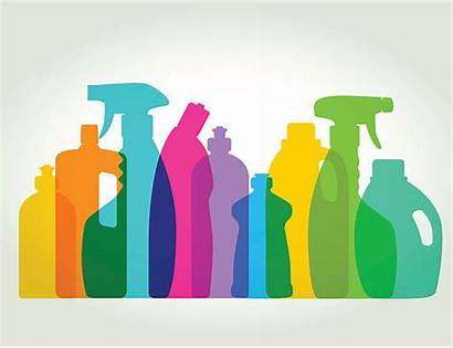 Cleaning Supplies Vector Clipart Clip Detergent Illustrations