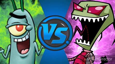 Plankton Vs Zim (spongebob Squarepants Vs Invader Zim