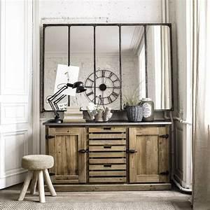 Buffet Avec Miroir : buffet industriel quel mod le choisir pour un salon aux airs de loft ~ Teatrodelosmanantiales.com Idées de Décoration