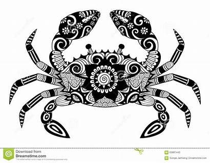 Crab Tattoo Zentangle Tatouage Coloring Adult Granchio