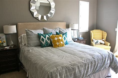 Yellow And Blue Master Bedroom by Master Bedroom Idea Blue Yellow Gray Master Bedroom