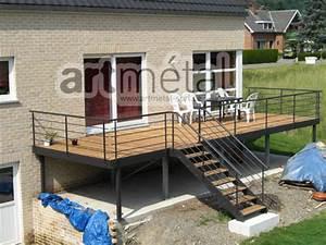 terrasse suspendue cout With terrasse sur pilotis en beton