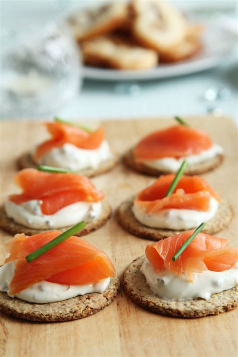 easy smoked salmon canapes smoked salmon canapes free stock photo domain