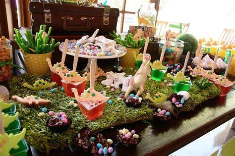 Shabby Chic Birthday Decorations by Kara S Party Ideas Dinosaur Third Birthday Party