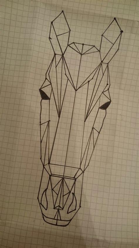 geometric horse ideen fuers zeichnen zeichnungen und