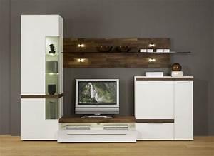 Moderne Tv Möbel : wohnwand casale cs2 von gwinner in lack weiss nussbaum natur wohnwand schrankwand wohnen ~ Orissabook.com Haus und Dekorationen