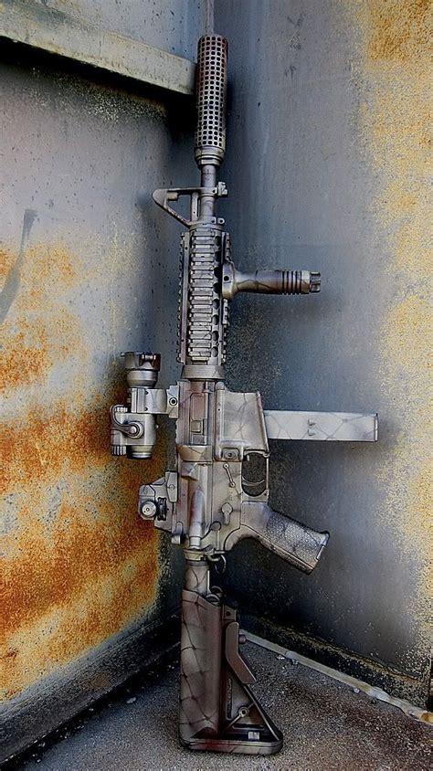 painted military gun ar m4carbine